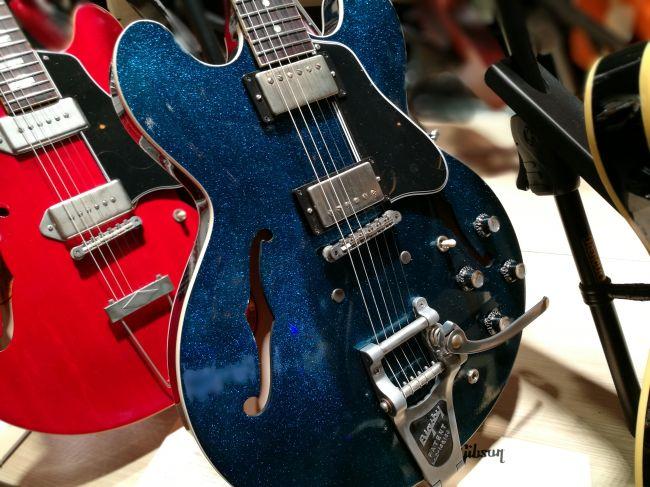 1961 ES-335 MOD Series - Blue Sparkle