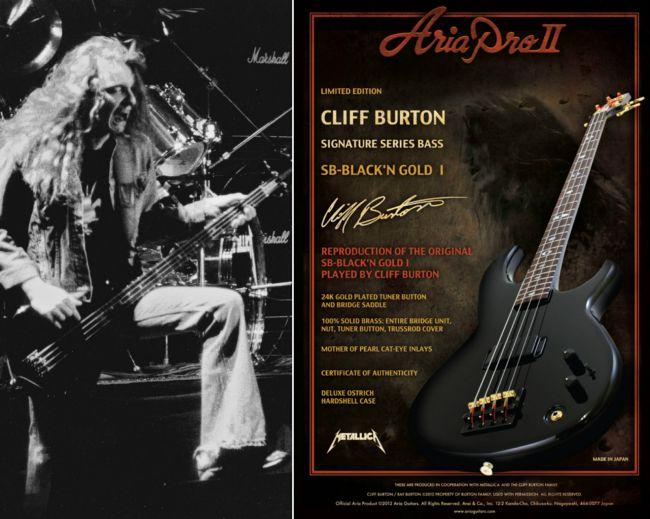 Cliff Burton Aria Bas Gitar